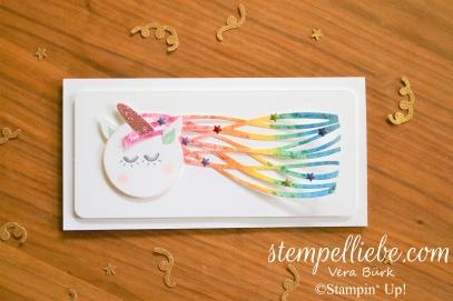 Stampin Up Kreativ Einhorn Glitzer Regenbogen 2