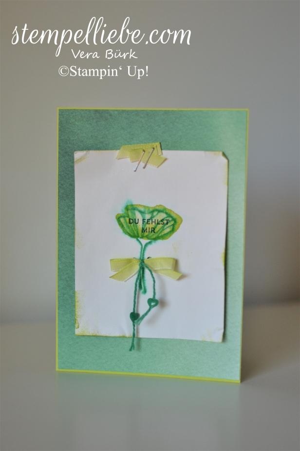 L-Karte Aquarell grüne Blume (1)