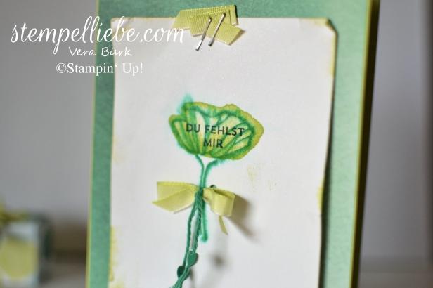 L-Karte Aquarell grüne Blume (2)