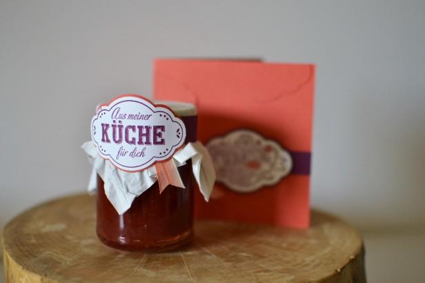 Quarett fürs Etikett Karte Marmelade Zier-Etikett Geburtstag Küche (2)