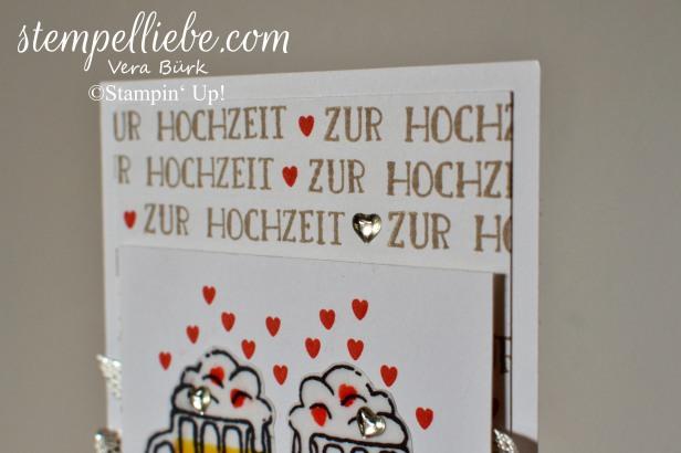 Hochzeit Bierkrug Karte München Stampin Up Vera Bürk