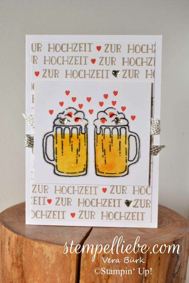 Hochzeit Bierkrug München Karte Stampin Up Vera Bürk