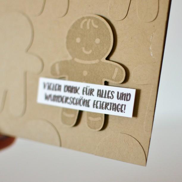Lebkuchenmann Stampin Up Karte Stanzteil geprägt (1)