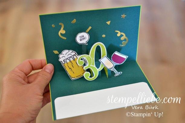 Pop Up Karte Zum 30 Geburtstag Stempelliebe