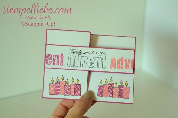 Advent Doppelte Z Falzkarte in Sommerbeere 2