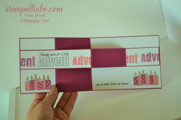 Advent Doppelte Z Falzkarte in Sommerbeere 3