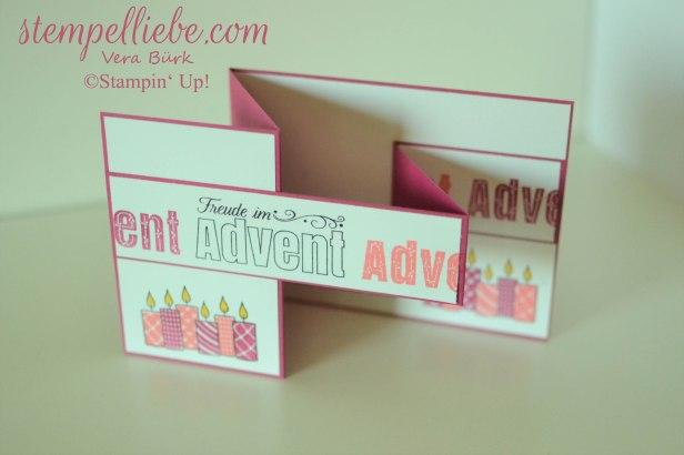 Advent Doppelte Z Falzkarte in Sommerbeere 4