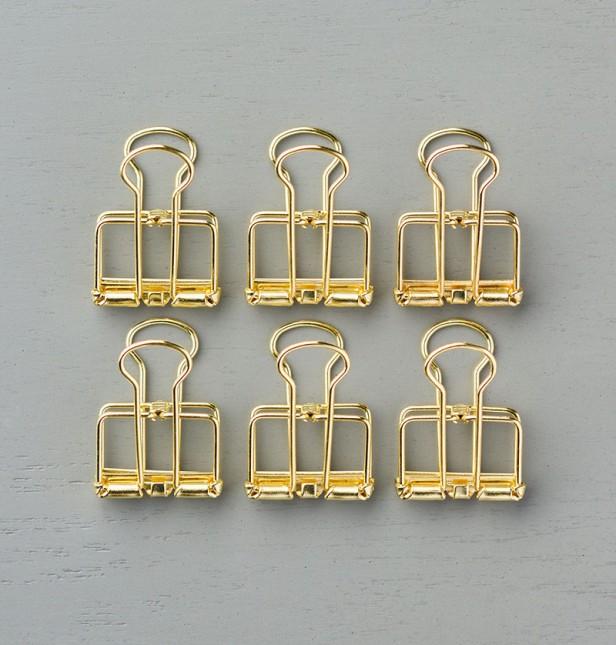 141673G goldene Buchklammern