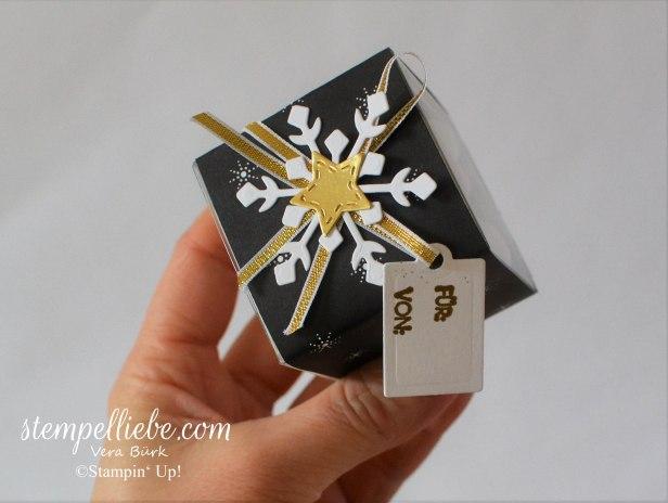 gefülte Mini-Geschenkschachtel Schneeball 2