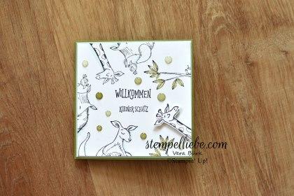Stampin Up Wild auf Grüße Tiere Baby Karte einzeln