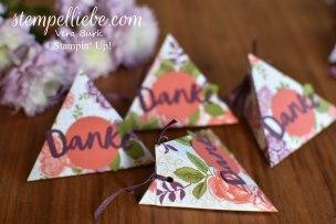 Dreieck Verpackung Danke Rosengarten