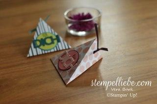 Dreieckstasche Stampin Up Allerliebst für dich