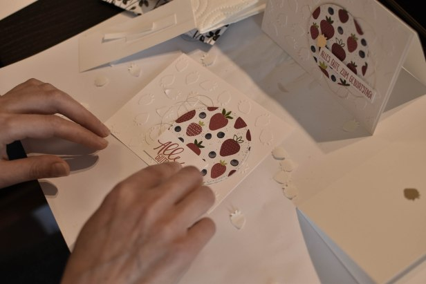 Erdbeer Karte Variation selbermachen