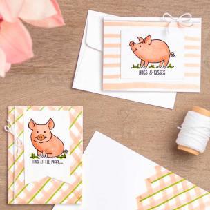 Kartenset Glücksschweinchen